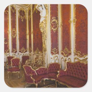 Winter Palace, Hermitage Museum, interior 2 Square Sticker