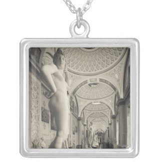 Winter Palace, Hermitage Museum, statue gallery 2 Silver Plated Necklace