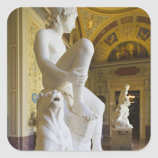 Winter Palace, Hermitage Museum, statue gallery Square Sticker