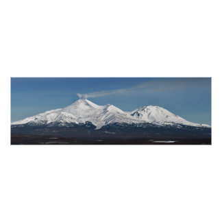 Winter panoramic view of active Avachinsky Volcano Poster