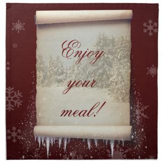 Winter Parchment Illustration - Cloth Napkin