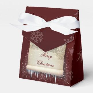 Winter Parchment Illustration - Favor Box Tent