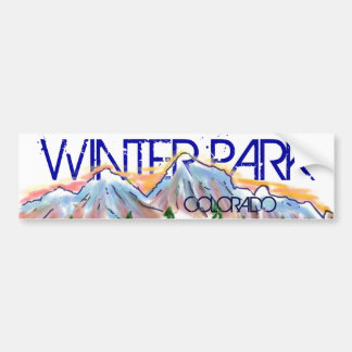 Winter Park Colorado artistic mountain sticker