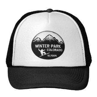 Winter Park Colorado black snowboard art hat