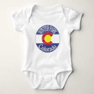 Winter Park Colorado circle flag Baby Bodysuit
