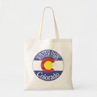 Winter Park Colorado circle flag Tote Bag