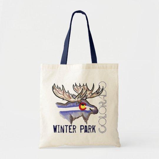 Winter Park Colorado elk reusable bag
