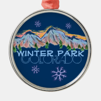Winter Park Colorado mountain snowflake ornament