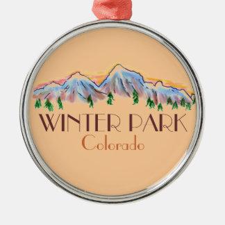 Winter Park Colorado scenic mountain ornament