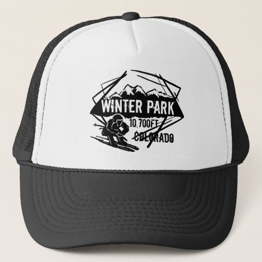 Winter Park Colorado ski elevation logo hat