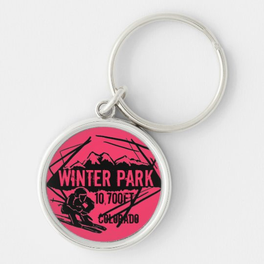 Winter Park Colorado ski elevation logo keychain
