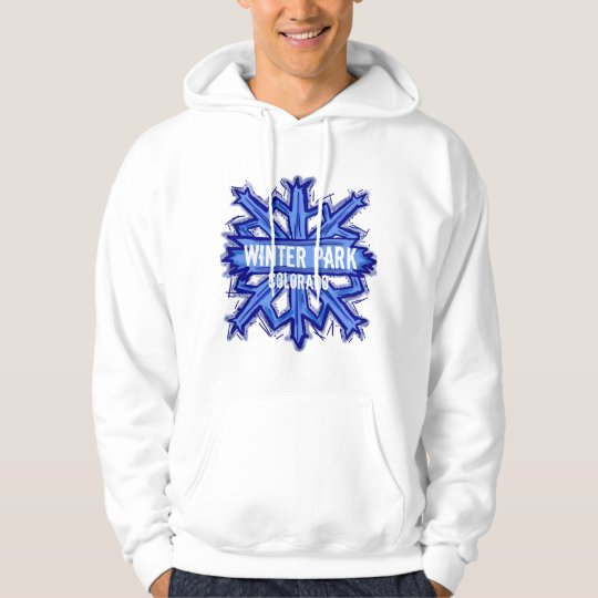 Winter Park Colorado winter snowflake hoodie