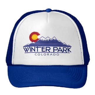 Winter Park Colorado wood mountains hat