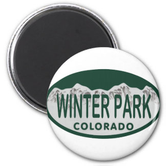 Winter Park license oval 6 Cm Round Magnet