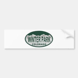 Winter Park license oval Bumper Sticker