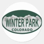 Winter Park license oval Round Sticker