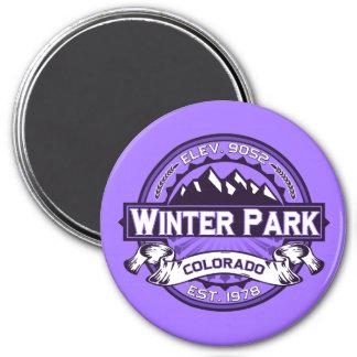 Winter Park Logo Violet 7.5 Cm Round Magnet