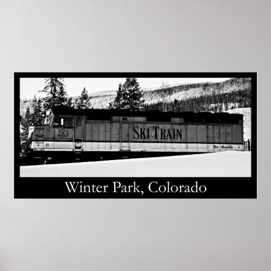 Winter park Ski Train Poster