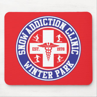 Winter Park Snow Addiction Clinic Mouse Pad