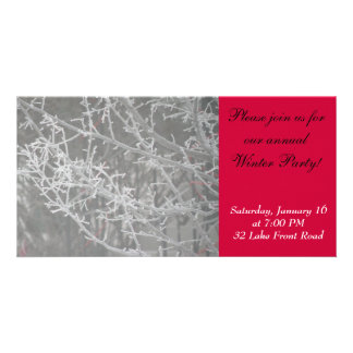 Winter Party Invitation Picture Card