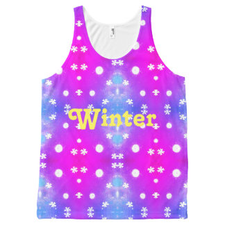 Winter pattern All-Over print tank top