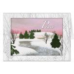 Winter Peace Card
