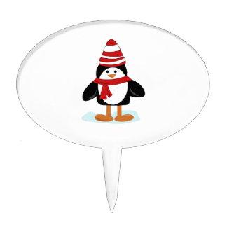 Winter Penguin Cake Topper