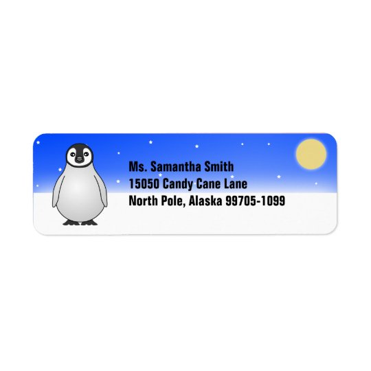 Winter Penguin Custom Return Address Labels