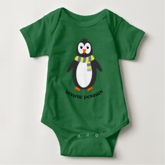 Winter penguin cute playful baby bodysuit