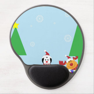Winter Penguin Holiday Gel Mouse Mat