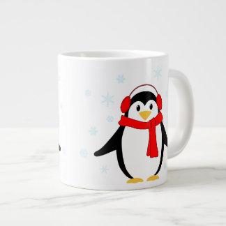 Winter Penguin Large Coffee Mug