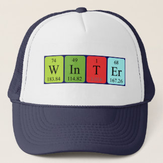 Winter periodic table name hat