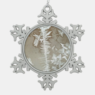 Winter Pewter Snowflake Decoration