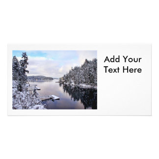 Winter Picture of Snow Personalized Photo Card