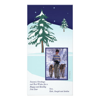 Winter Pines #1 Holiday Photo Card