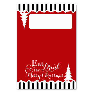 Winter Pines Christmas Seating Place Card