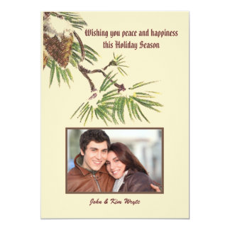 Winter Pines Holiday Photo Card 13 Cm X 18 Cm Invitation Card