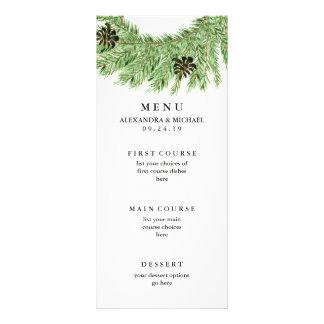 Winter Pines Wedding Menu