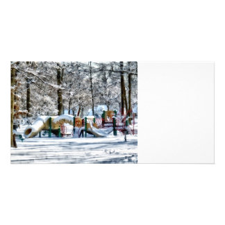 Winter Playground Photo Card Template