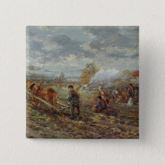 Winter Ploughing 15 Cm Square Badge
