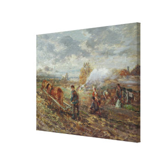 Winter Ploughing Canvas Print
