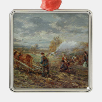 Winter Ploughing Christmas Ornament