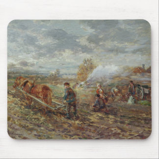 Winter Ploughing Mouse Mat