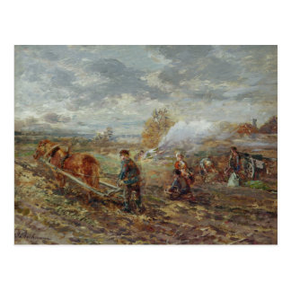 Winter Ploughing Postcard
