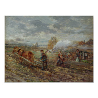 Winter Ploughing Poster