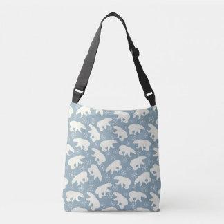 Winter Polar Bears seamless pattern + your ideas Crossbody Bag