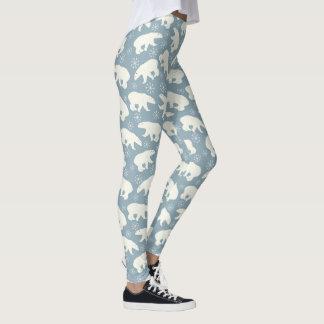 Winter Polar Bears seamless pattern + your ideas Leggings