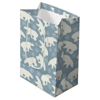 Winter Polar Bears seamless pattern + your ideas Medium Gift Bag