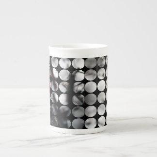 Winter Polka Dots Berries Red Bone China Mug