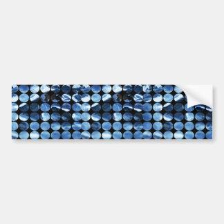 Winter Polka Dots Blue Ice Bumper Sticker